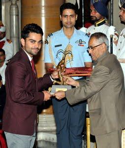Image result for virat kohli arjuna award