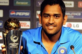 The ICC Champions Trophy Followed Dhoni Leading India To Glory In 2007 World Twenty20 And 50 Over ODI Cup 2011